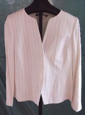 NWT Ellen Tracy Linda Allard White Pin Stripe Cotton Blazer Jacket Misses Sz 10