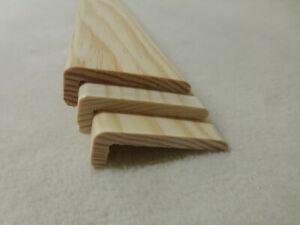 1Stk 90cm Winkelleiste Kiefer 15x45mm Winkel Eckleisten Holzleisten