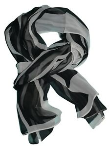 """Past Times Art Deco Style Silk Scarf 17.5"""" x71"""" NWT SP £30"""