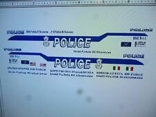 USAF Police Car Decals  Italy Edition  Custom  1:24  SECURITY FORCES