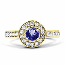 Not Enhanced Tanzanite Cluster Fine Rings