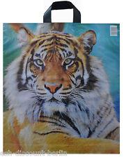 TOP 500 Plastiktüten Einkauf Tragetaschen im Tiger Design ca. 47x42cm Neutral