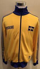 VTG Adidas FIFA World Cup Reissue 1974 Sverige Sweden Track Jacket Sz L Zlatan