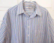 MENS CAMPIA MODA Size 2XLT  Stripe Shirt  Short Sleeves / Poly/Cotton