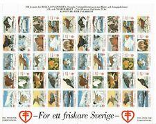 S26926) Sweden 1992/93 MNH Tuberculose Christmas Sheet God Helg Cinderella
