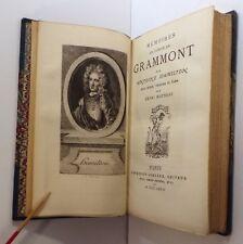 Antoine Hamilton, Mémoires du comte de Grammont, éd. Lemerre 1876 bel ex.
