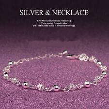 Damen Armband Armband versilbert Charm Perlen Armkette Armreif Modeschmuck heiß