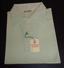 NOS 50's WELGRUME Green Textured Semi Sheer Loop Button Pullover! ROCKABILLY L