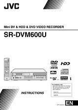 JVC sr-dvm600u operating user owner's instruction manual