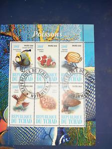 chad minisheet mini sheet fish 2010