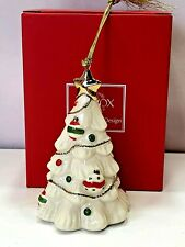 Lenox Very Merry Little Christmas White Porcelain Decorated Xmas Tree Ornament