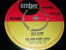 "THE JOHN BARRY SEVEN * ZULU STAMP * 7"" SINGLE VERY GOOD 1964 EMBER REC"