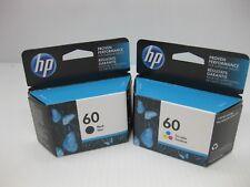 HP 60 Ink Set Lot Tri-Color & Black Genuine New ** MINT BOXES ** Date: Dec 2018