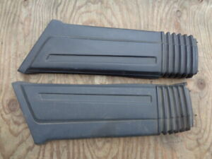 Volvo 740 760 OEM Left and Right Rear Bumper End Cap Trim  matched pair  black