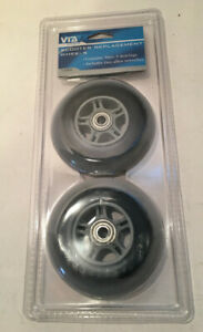 Cycle Scooter Replacement Wheels 1050 NEW Abex Bearings NIP 2-pack VIA