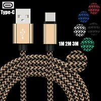 3/6/10ft Braided Type-C USB-C Charging Cable Data Transfer For Samsung S9 S9+ S8
