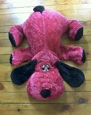 Dan dee collectors choice large plush pink black dog