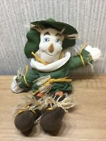 "Wizard Of Oz Scarecrow Soft Toy Large 10"" Plush Collectable Rare Warner Bros"
