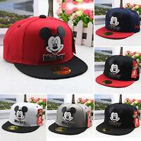 Kids Boys Cute Mickey Mouse Baseball Cap Adjustable Hip-Hop School Snapback Hat