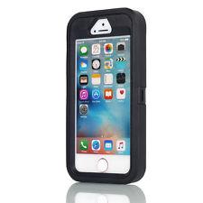 Hybrid Shockproof Hard Tough Armor Case Full Protect Cover FR Apple iPhone SE 5s Black