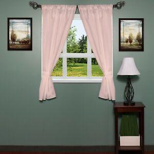 Carnation Home Fashions Classic Hotel Quality Fabric Bathroom Window Curtain Set