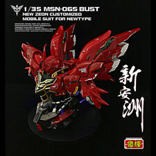 YH model 1/35 MSN-06S Sinanju Bust Head Gundam Psycho frame Newtype with LED
