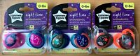 Tommee Tippee 2x Night   Orthodontic Soothers 0-6 months /6-18 months