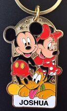 Disneyland Name Keychain Mickey Minnie Pluto Personalized JOSHUA