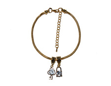 and Key Keyholder Mistress Cuckold Gold Euro Anklet Ankle Chain Jewellery Lock