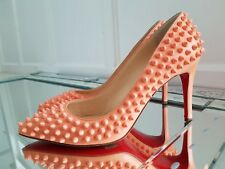 Christian Louboutin Pigalle Spikes 85 Mango Leather Heels 39 RRP £960