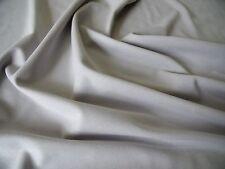 HEAVY PONTEROMA STRETCH JERSEY-LIGHT GREY -DRESS FABRIC-FREE P&P
