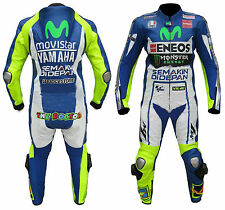 TOP quality YAMAHA Motorbike Genuine Cowhide Leather Racing Suit CE with Armours