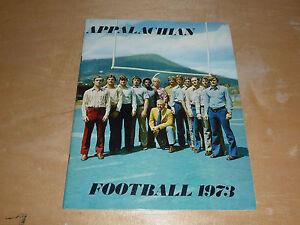 1973 APPALACHIAN STATE COLLEGE FOOTBALL MEDIA GUIDE EX-MINT BOX 9