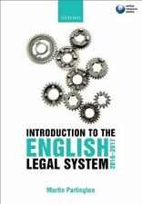 Introduction to the English Legal System 2016-2017-ExLibrary