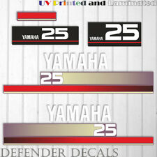 Yamaha 25 HP Nineties outboard engine decal sticker Set Kit reproduction 25HP