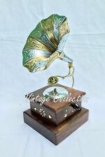 Vintage antike Messing Grammophon Grammophon ~ Sammler Zimmer Büro dekorative