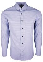 MENS BLUE CLASSIC PATTERN  PARTY DRESS FORMAL LONG SLEEVE SHIRT ONLY £15.99(401