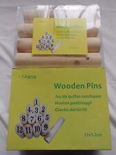 Jeu de Quilles Finlandaises Bois -100% Pin Top Produit Plein Air * Envoi Gratuit