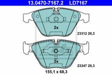 Ceramic Bremsbelagsatz, Scheibenbremse Vorderachse ATE 13.0470-7167.2