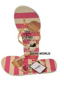 Disney Winnie The Pooh Flip Flop Ladies Summer Slipper Beach Pool UK 3-8 Primark