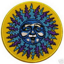 Smiley Sun Shine Face Punk Rock Hippie Embroidered Iron on Patches