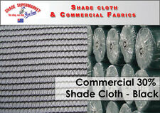 Commercial 30% Shade Cloth 3.66 x 50m BLACK 90gsm SHADECLOTH