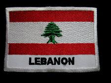 LEBANON LEBANESE REPUBLIC NATIONAL FLAG Sew on Patch Free Postage