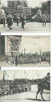 3 CPA - Les Fêtes de la Victoire 14 Juillet 1919