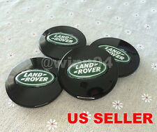 FOR LAND ROVER NEW SET OF 4CENTER WHEEL WHEELS RIM CAP CAPS 63MM BLACK GREEN