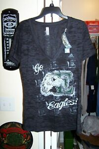 Eastern Michigan Eagles NEW Womens Large V-Neck Burnout T-Shirt . NCAA  NWT
