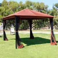 Outdoor 10' x 12' Backyard Garden Patio Gazebo Canopy Tent w/ Mosquito Netting