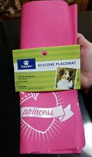 "Top paw Non-Slip Pink Princess Silicone Placemat Brand New! 18"" X 11"""