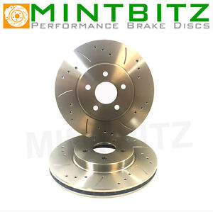 Renault Clio Mk3 2.0 Sport 197 02/06- Drilled Grooved Front Brake Discs
