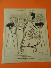 Henry Haye Le Roi Soleil...de minuit Humour Print 1935